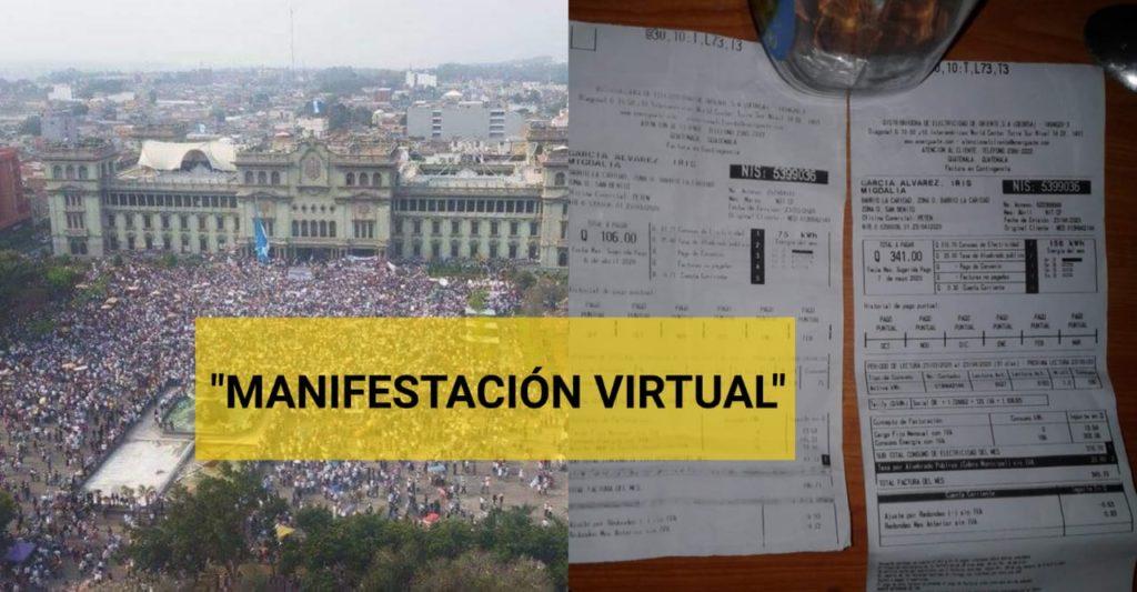 GUATEMATECOS HARÁN HUELGA VIRTUAL NO PAGAREMOS MÁS LOS SERVICIOS PÚBLICOS