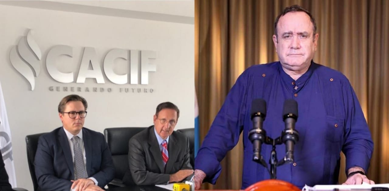 Presidente Giammattei esta en contra de las ordenes que el CACIF ha dado -  Slogan