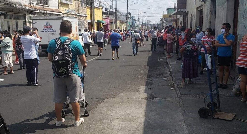 Asi lucia la ZONA 1 de la ciudad de Guatemala, esto no es contención
