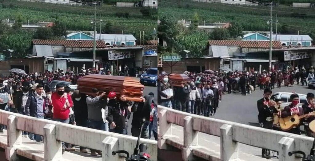 Aglomeración masiva en entierro, no respetan distanciamiento