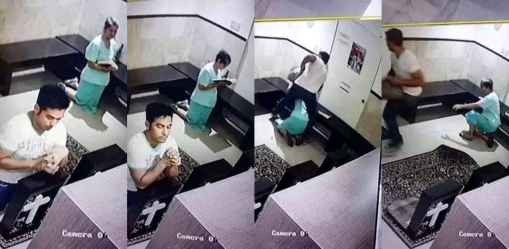 Hombre asalta y roba la cartera de una abuelita orando en una iglesia