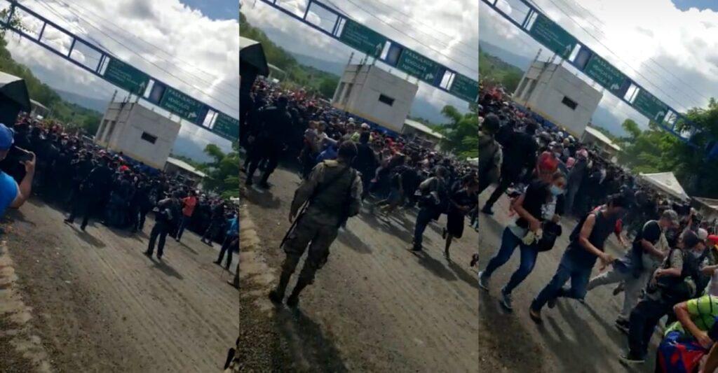 Migrantes hondureños están ingresando a Guatemala a la fuerza, nada los detiene