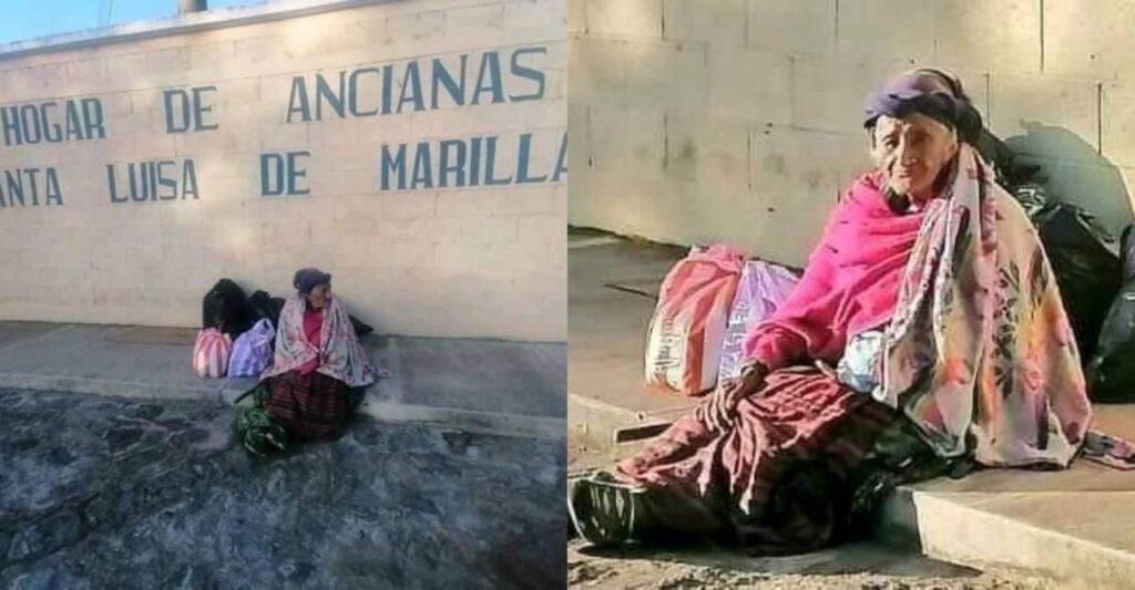Abuelita de 77 años lleva 3 días afuera de asilo de ancianos, no la dejan entrar
